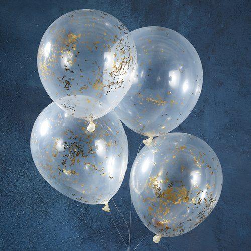 kerstversiering-confetti-ballonnen-golden-glitter-star-christmas-night