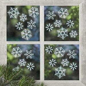 kerstversiering-raamsticker-snowflake-rustic-christmas-3