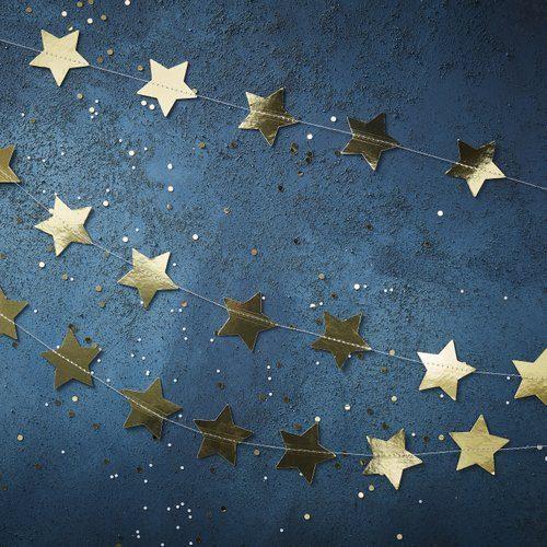 kerstversiering-slinger-star-gold-foil-christmas-night-2