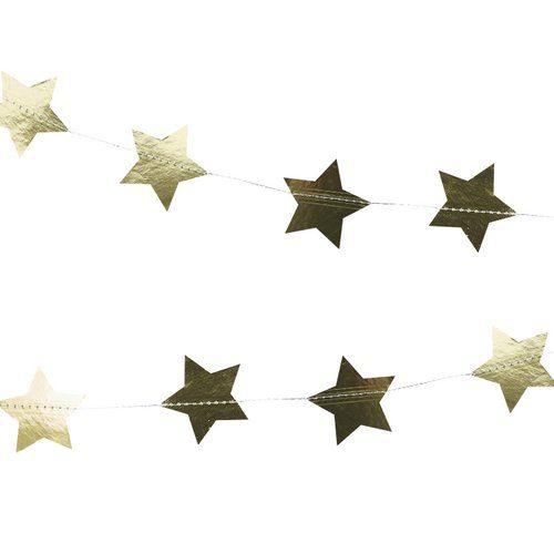 kerstversiering-slinger-star-gold-foil-christmas-night