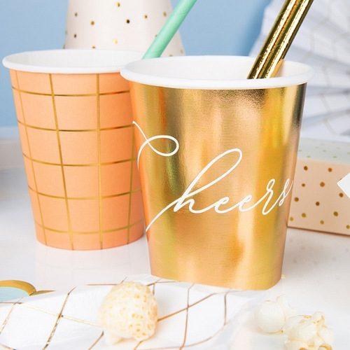 feestartikelen-papieren-bekertjes-cheers-metallic-gold-2