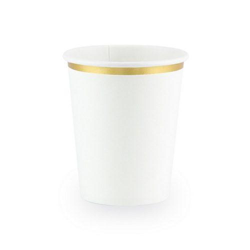 feestartikelen-papieren-bekertjes-white-metallic-gold