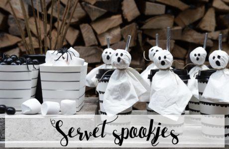 Halloween decoratie DIY: Servet Spookjes