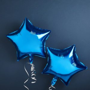 babyshower-decoratie-folieballonnen-blue-star-we-wonder-what-you-are