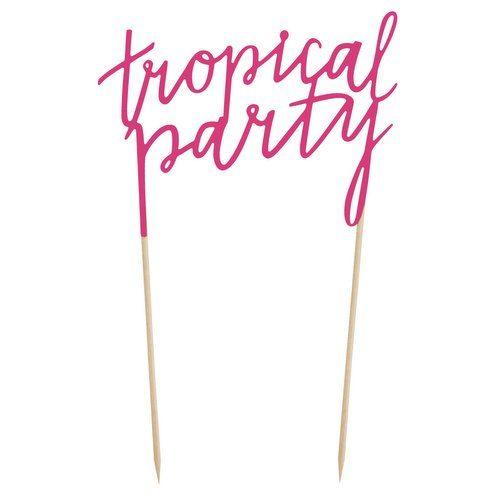 feestartikelen-cake-topper-tropical-party-fuchsia