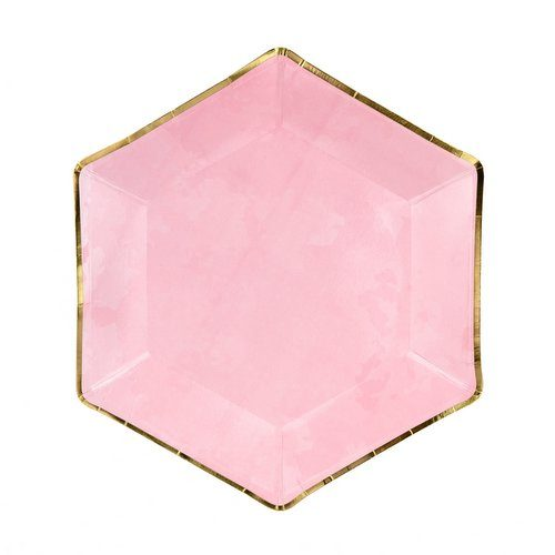 feestartikelen-papieren-bordjes-pink-gold