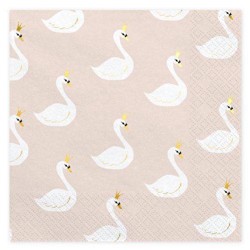 feestartikelen-servetten-lovely-swan