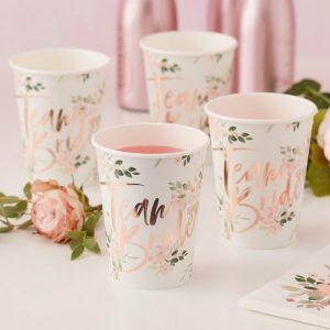 vrijgezellenfeest-decoratie-papieren-bekertjes-team-bride-floral-hen (2)
