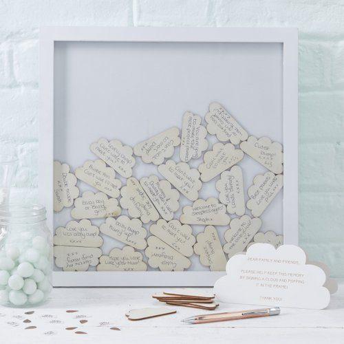 babyshower-versiering-houten-frame-gastenboek-hello-world