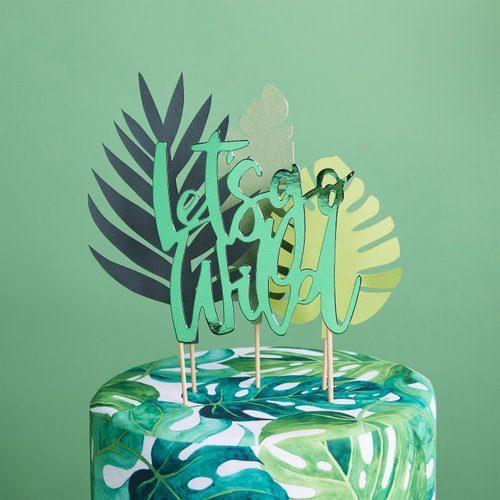 feestartikelen-cake-topper-lets-go-wild-tropic-like-its-hot