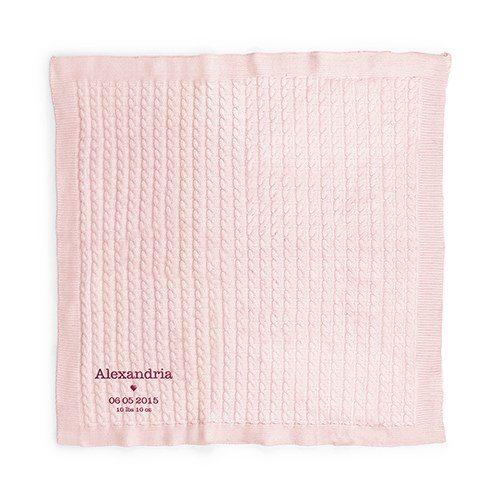 kraamcadeau-babydeken-pastel-roze-gepersonaliseerd