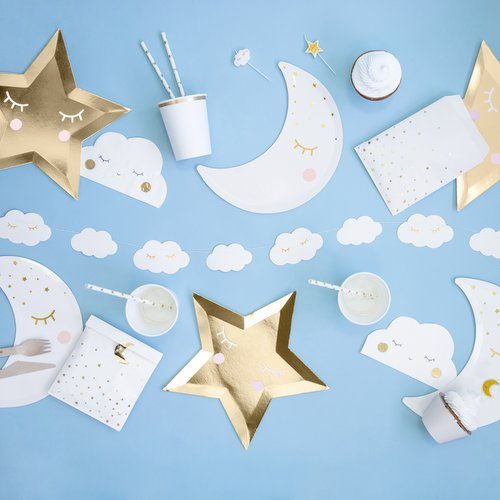 babyshower-versiering-papieren-bordjes-golden-star-little-star-2