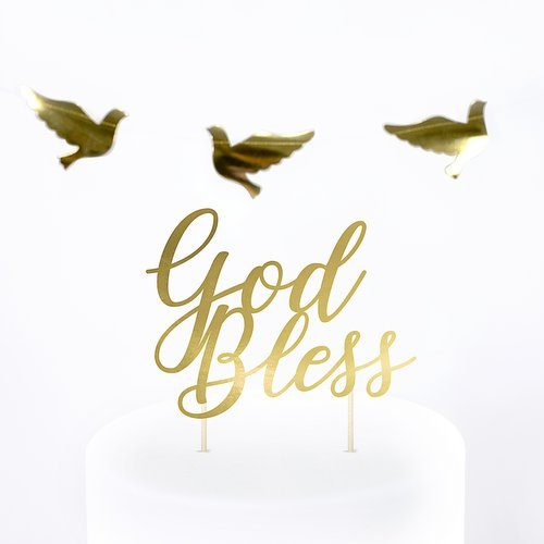 communie-versiering-cake-topper-god-bless-first-communion-3