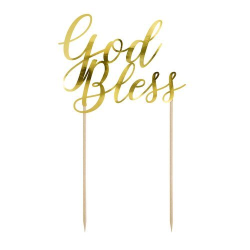 communie-versiering-cake-topper-god-bless-first-communion