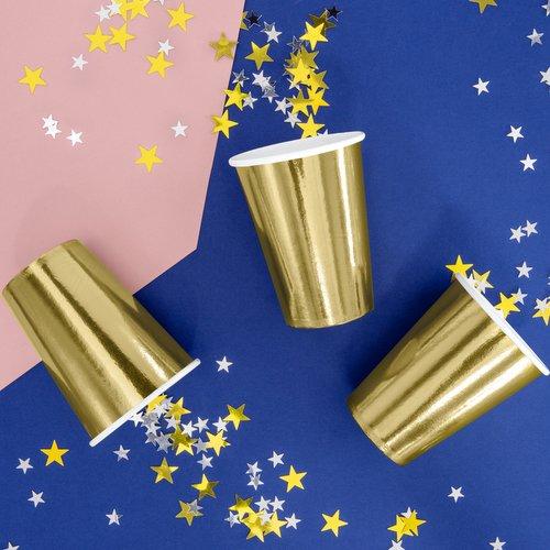 feestartikelen-papieren-bekertjes-metallic-gold-2