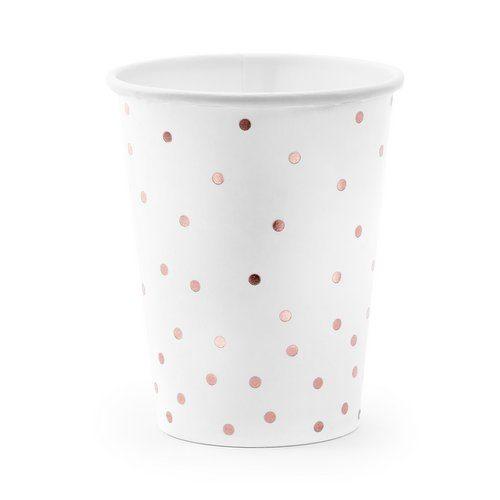 feestartikelen-papieren-bekertjes-polka-dot-rose-gold-4
