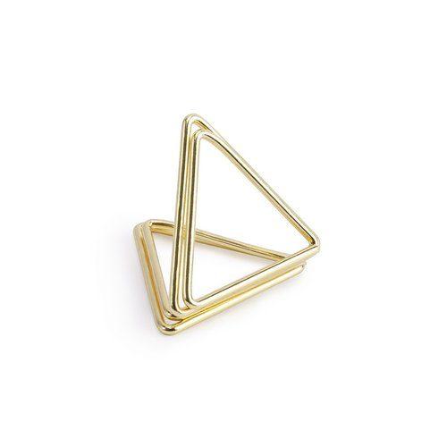 feestartikelen-plaatskaarthouders-triangle-goud