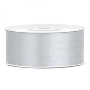 feestartikelen-satijnlint-25mm-zilver