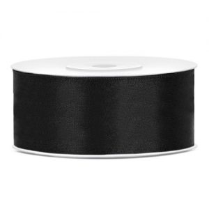 feestartikelen-satijnlint-25mm-zwart