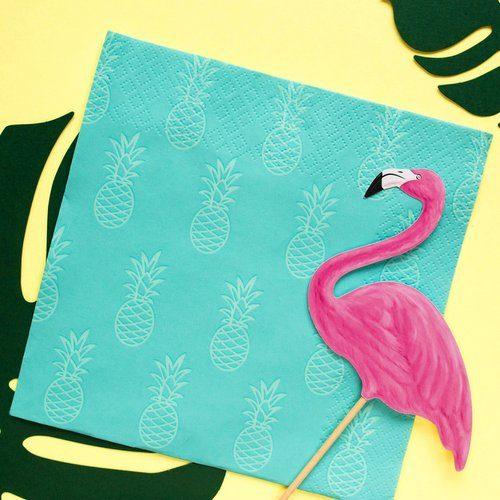 feestartikelen-servetten-turquoise-pineapple-001