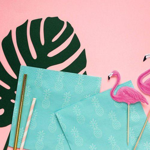 feestartikelen-servetten-turquoise-pineapple-3