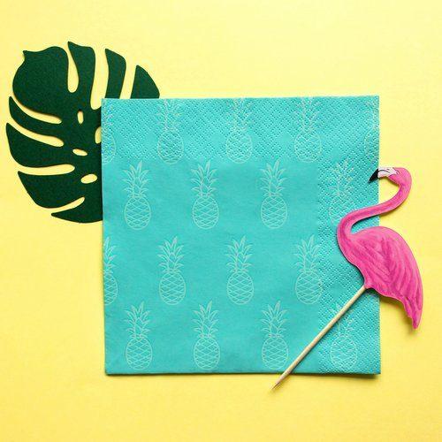 feestartikelen-servetten-turquoise-pineapple-5