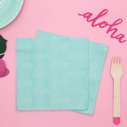 feestartikelen-servetten-turquoise-pineapple-7