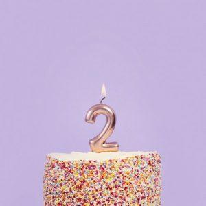 feestartikelen-taartkaars-rosegoud-cijfer-2