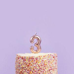 feestartikelen-taartkaars-rosegoud-cijfer-3