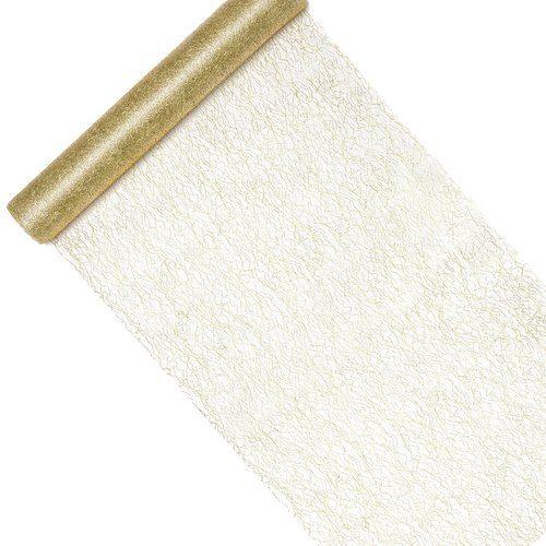 feestartikelen-tafelloper-fiber-gold