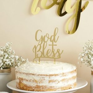 communie-versiering-acryl-cake-topper-god-bless-first-communion-2