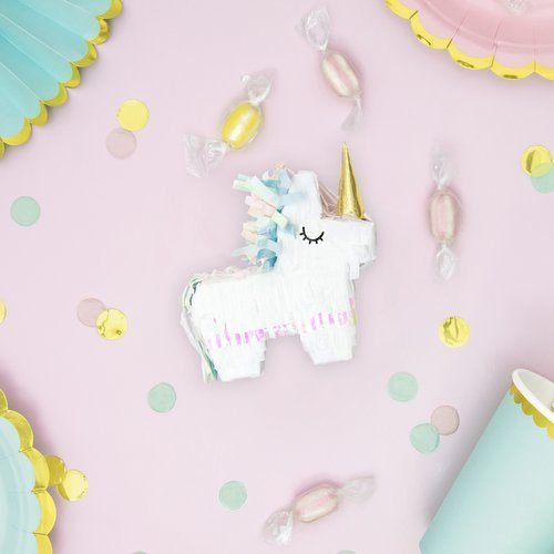 feestartikelen-mini-piñata-unicorn-golden-horn-2