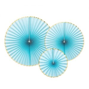 feestartikelen-paper-fans-light-blue-gold