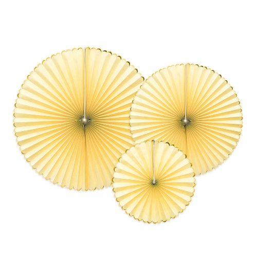 feestartikelen-paper-fans-yellow-gold