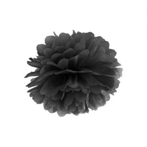 feestartikelen-pompom-zwart
