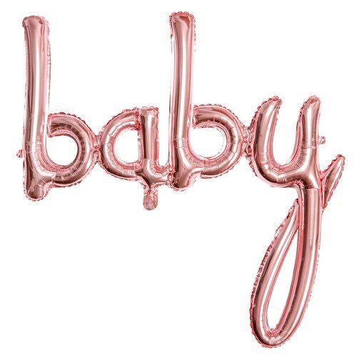 feestartikelen-folieballon-baby-rosegoud