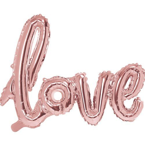 feestartikelen-folieballonnen-love-rosegoud
