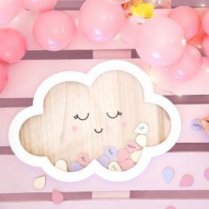 babyshower-versiering-houten-frame-gastenboek-cloud-9