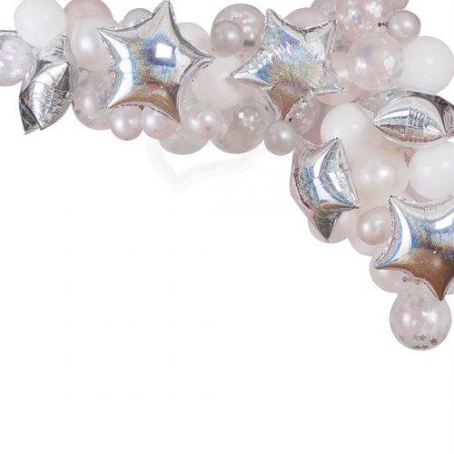 feestartikelen-ballonnenboog-silver-pearl-white