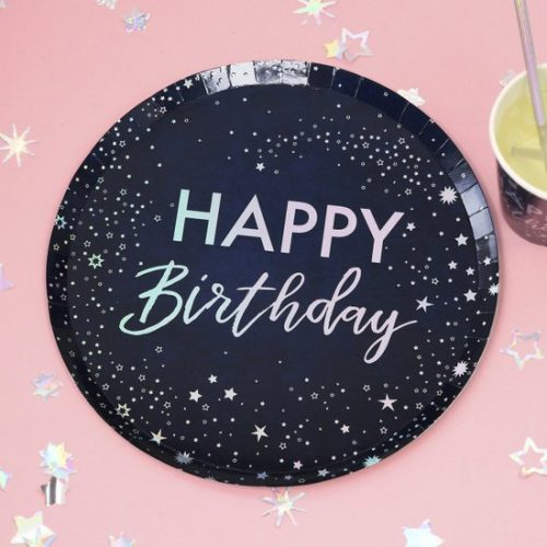 feestartikelen-papieren-bordjes-happy-birthday-stargazer