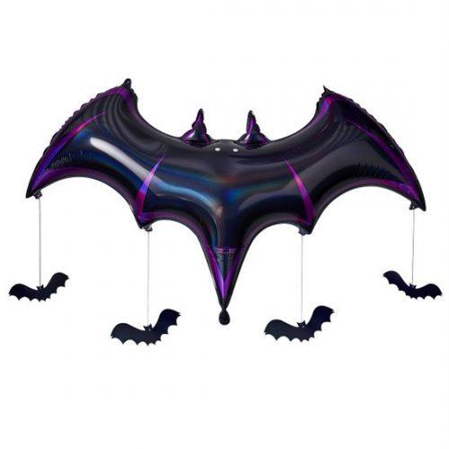 halloween-decoratie-folieballon-black-bat-lets-get-batty