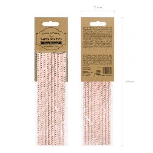 feestartikelen-papieren-rietjes-pink-gold