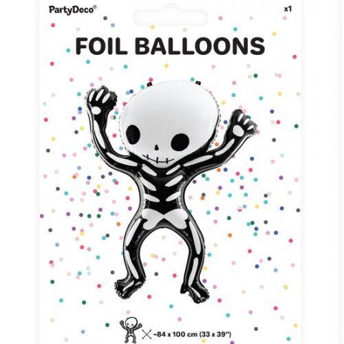halloween-decoratie-folieballon-skeleton-black-bats