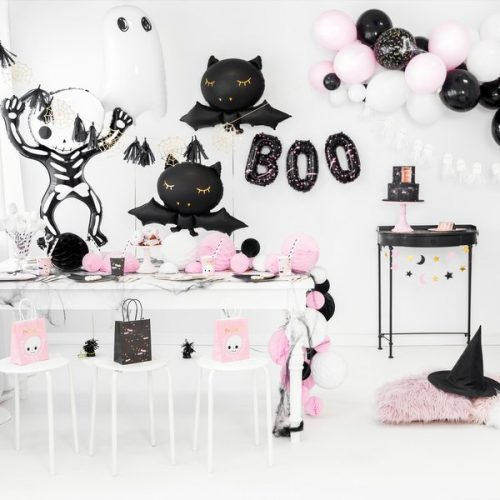 halloween-decoratie-papieren-bordjes-pink-pumpkin-black-bats-2