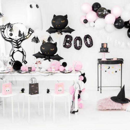 halloween-decoratie-papieren-spinnenwebben-goud-black-bats