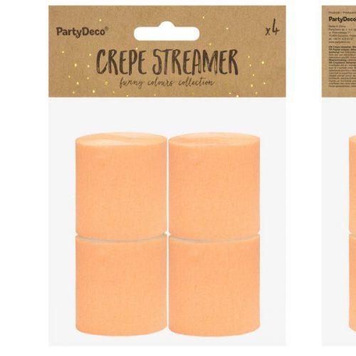 feestartikelen-crepe-papier-slinger-licht-oranje