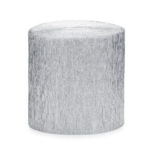 feestartikelen-crepe-papier-slinger-zilver