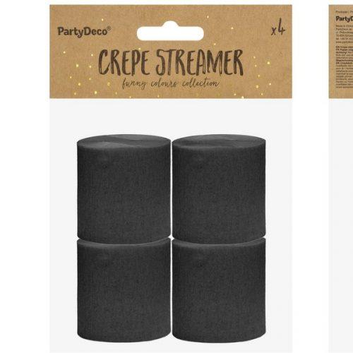 feestartikelen-crepe-papier-slinger-zwart