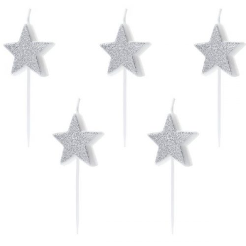 feestartikelen-taartkaarsen-silver-star-2