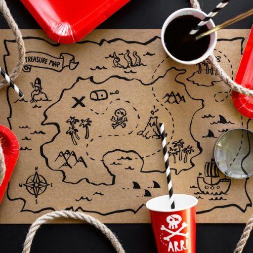 kinderfeestje-versiering-papieren-bekertjes-pirates-party-rood-2